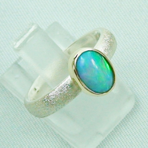 Silberring 1,05 ct Welo Opal in 14k Gold, Opalring, Bild6