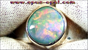 Sterling Silberring mit Schwarzopal Opalring Silber Ring Blackopal 1,94 ct