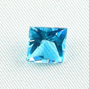 AAA Custom Square Cut Blautopas 2,71 ct Swiss Blue