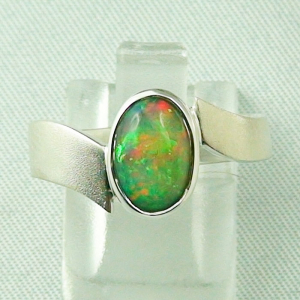 Massiver Sterling Silberring mit 1,12 ct Welo Opal
