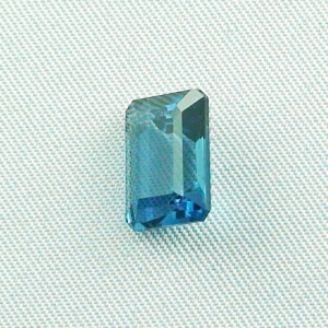 London Blue Blautopas 5,22 ct octagon bar cut - Video & Zertifikat