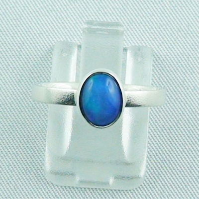 Sterling Silberring mit 0,59 ct Welo Opal - 925er Opalring, Bild1