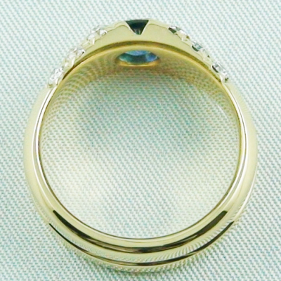 18k Herrenring, Goldring mit 1,21 ct Saphir, Diamanten, Bild10