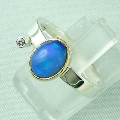 4,66 gr Silberring, Welo Opal 1,23 ct in 18k Gold u Diamant, Bild2