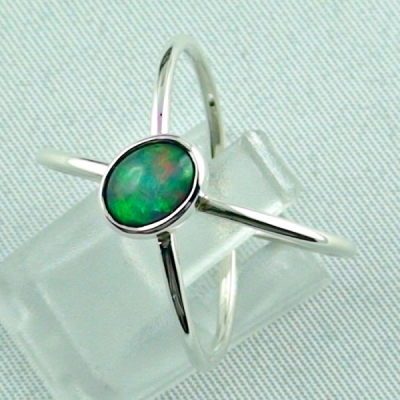 Massiver Silberring mit Welo Opal 0,69 ct Opalring, Bild2