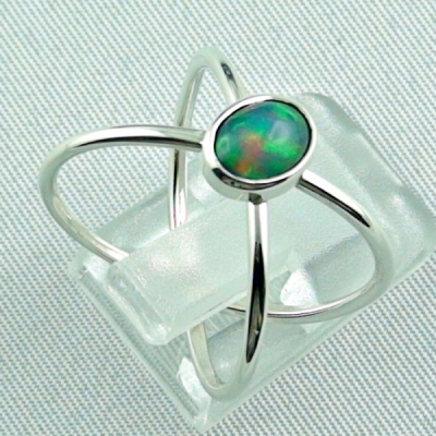 Massiver Silberring mit Welo Opal 0,69 ct Opalring, Bild5