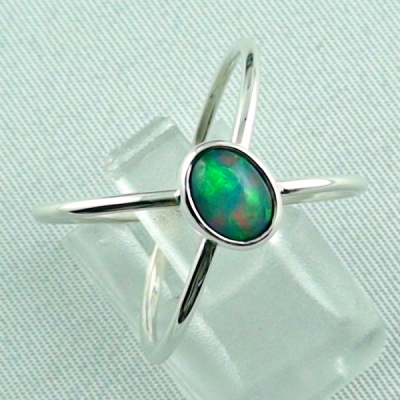 Massiver Silberring mit Welo Opal 0,69 ct Opalring, Bild6