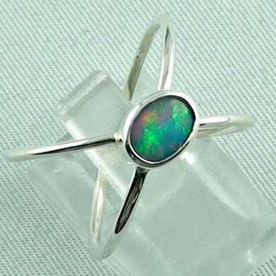 Sterling Silberring mit Top GEM Welo Opal 0,50 ct, Bild6