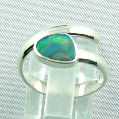925er Sterling Silberring Black Picture Opal 0,56 ct, Bild4