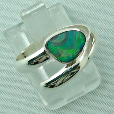925er Sterling Silberring Black Picture Opal 0,56 ct, Bild6