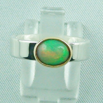 5,80 gr Opalring, Silberring, 1,14 ct Welo Opal in Gold, Bild1