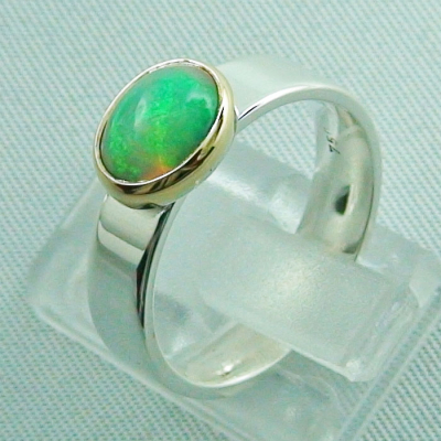 5,80 gr Opalring, Silberring, 1,14 ct Welo Opal in Gold, Bild3