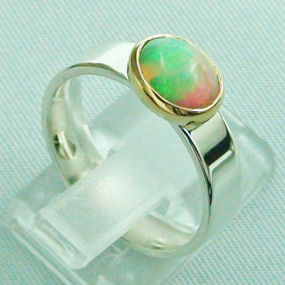 5,80 gr Opalring, Silberring, 1,14 ct Welo Opal in Gold, Bild5