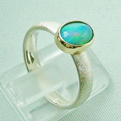 Silberring 1,05 ct Welo Opal in 14k Gold, Opalring, Bild5