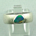 Massiver Sterling Silberring mit Top Black Crystal Opal 0,75 ct Silberschmuck