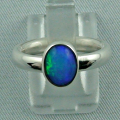 Sterling Silberring mit Top GEM Welo Opal 1,09 ct - massiver Silberring mit Edelstein(Opal)
