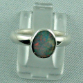 Massiver Sterling Silberring mit Top Semi Black Opal 0,60 ct